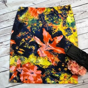 Betsey Johnson Abstract Floral Print Skirt